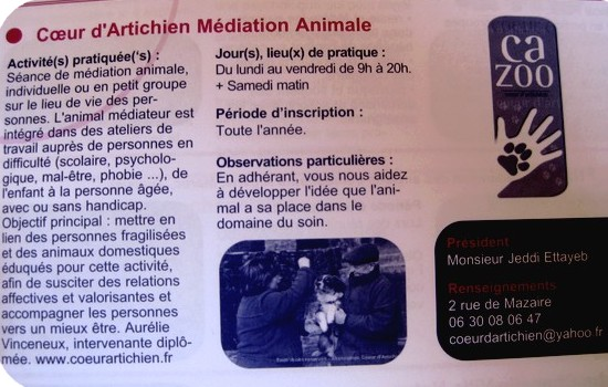 Article CAZOO dans le Guide des associations