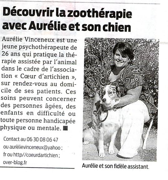 coeur d'artichien mediation animale nantes